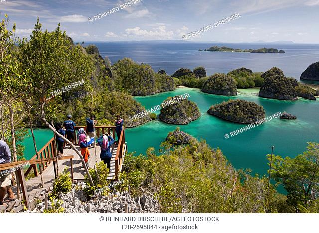 Viewpoint at Penemu Island, Fam Islands, Raja Ampat, West Papua, Indonesia