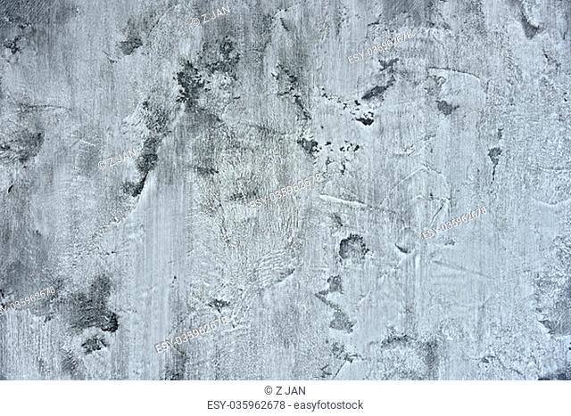 Texture of gray concrete wall. Plasterwork of interior design