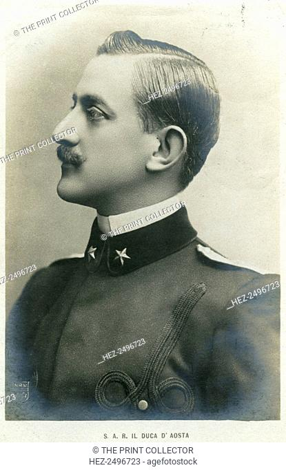 The Duke of Aosta, c1900s(?). Duke Emanuele Filiberto of Aosta (1869-1931) was a cousin of King Victor Emmanuel III of Italy