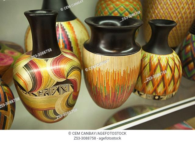 Pottery for sale at the art and craft market, Bogota, Colombia, South America