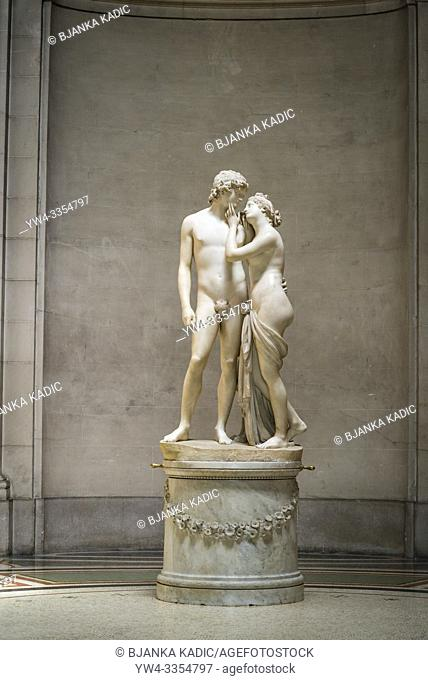 Sculpture 'Venus and Adonis' by Antonio Canova, late 18th century in neo-classical style, Art and history museum, the largest museum in the city, Geneva