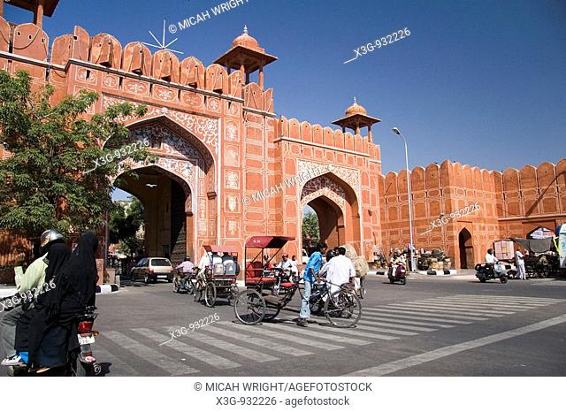 Jaipur, the red city, the City Gates, Rajasthan, India