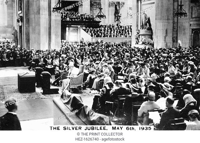 King George V's Silver Jubilee, London, 6th May, 1935. Thanksgiving service in St Paul's Cathedral