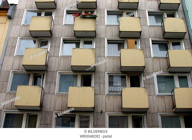 Balconies in a house