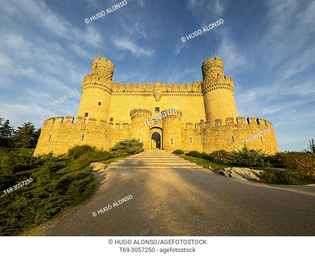 Castle of Manzanares El Real, Madrid province, Spain
