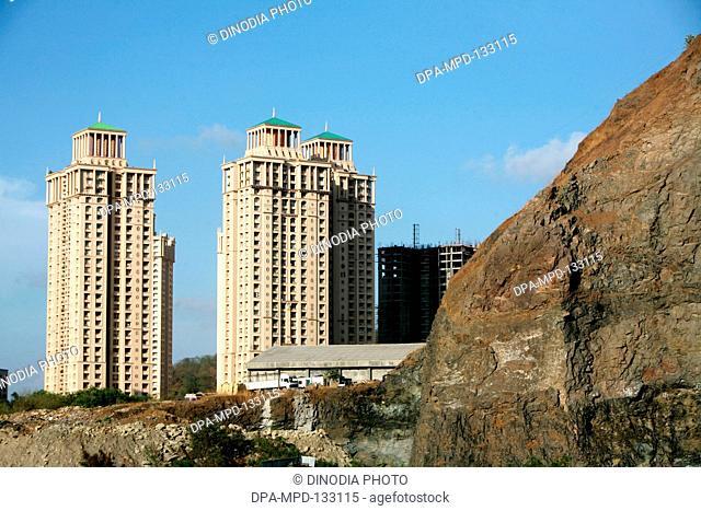 Newly constructed high rise buildings of Hiranandani situated in Powai ; Bombay Mumbai ; Maharashtra ; India