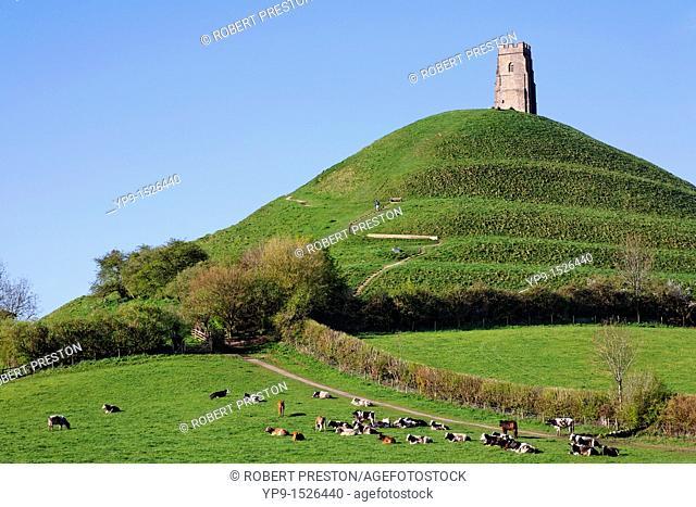 Glastonbury Tor, Glastonbury, Somerset, England