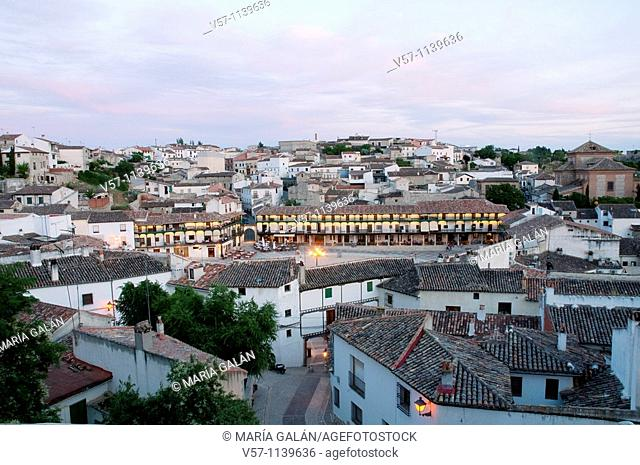 Overview at dusk. Chinchón, Madrid province, Spain