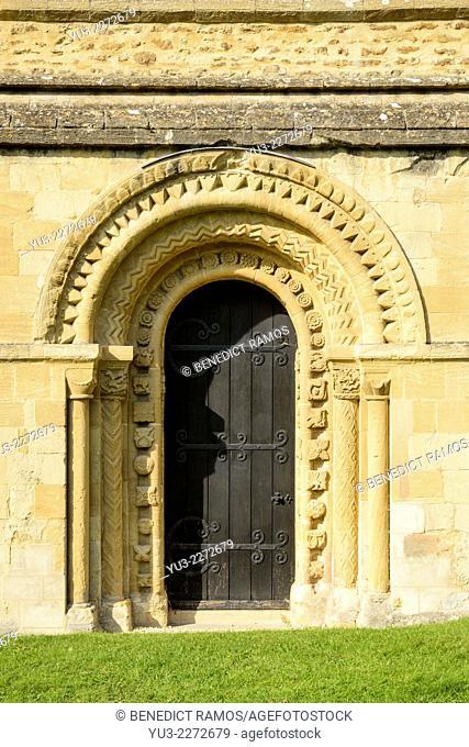 St Mary's church, Iffley, Oxford, England, UK