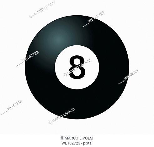 8 black billiard icon
