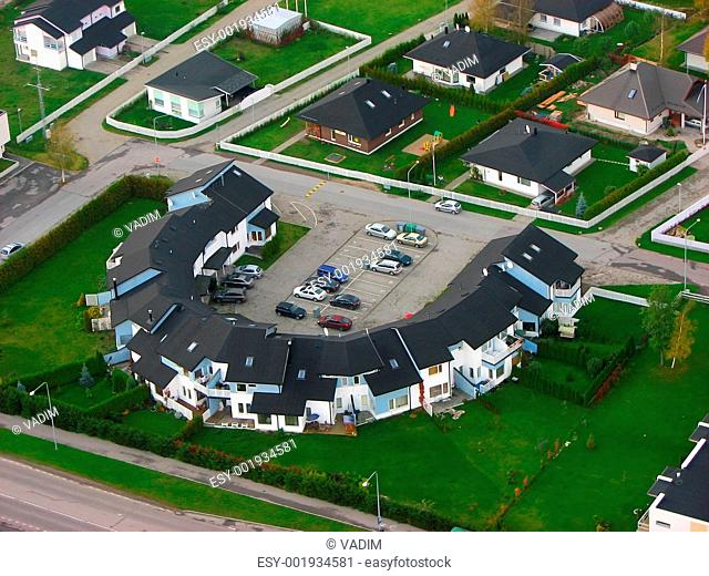 birdseye view at a houses