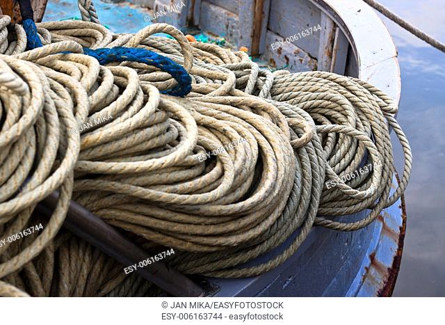 Detail of rope on the deck