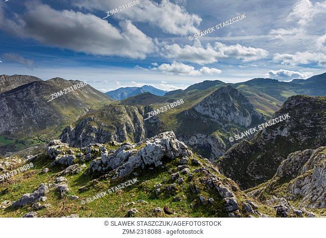 Picos de Europa National Park near the village of Beges, Cantabria, Spain