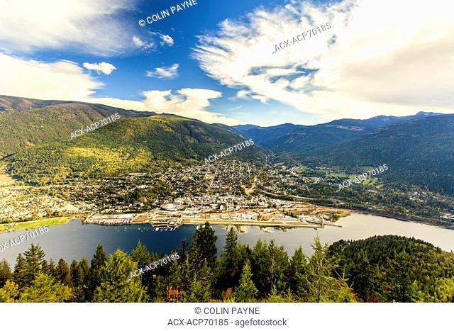 View of Nelson, British Columbia from Pulpit Rock trail