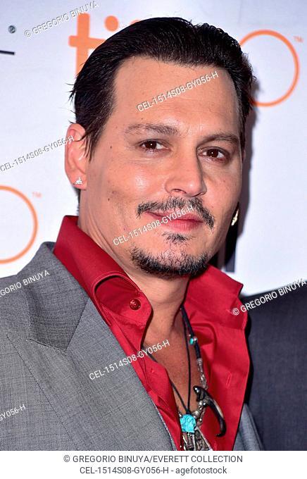Johnny Depp at arrivals for BLACK MASS Premiere at Toronto International Film Festival 2015, VISA Screening Room, Toronto, ON September 14, 2015