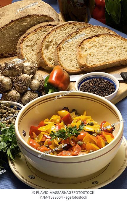 plate of peperonata