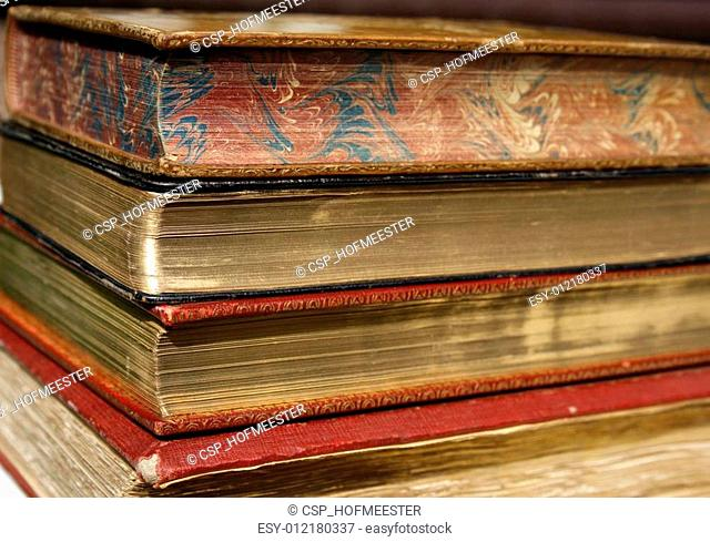 old books with golden pages
