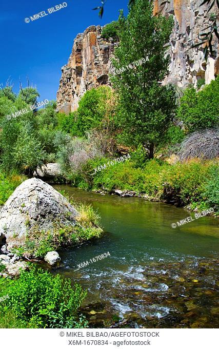 Ihlara Valley and Melendiz Stream  Aksaray province  Cappadocia, Turkey