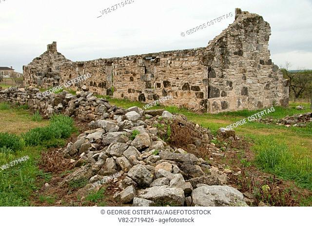 Barracks wall ruin, Fort McKavett State Historic Site, Texas