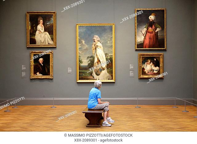 Visitor at Metropolitan Museum, New York City, USA