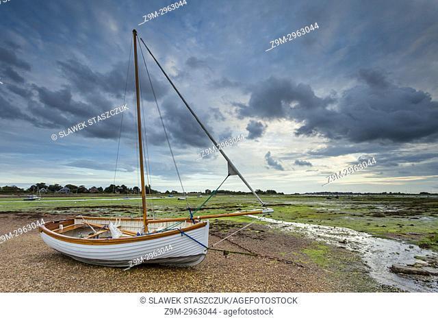 Stormy skies over Bosham Harbour, West Sussex, England