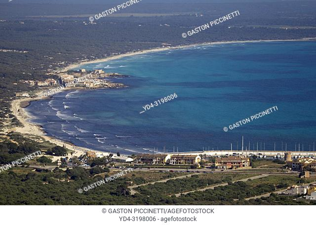 Aerial view of the South Coast of the island of mallorca, Balearic Island, Spain.
