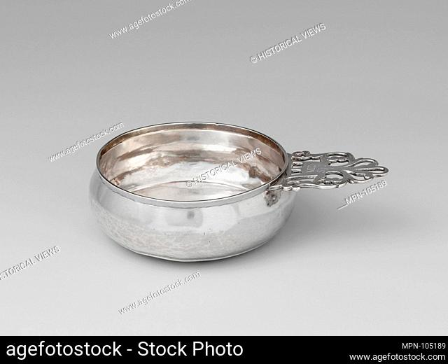 Porringer. Maker: Samuel Vernon (1683-1737); Date: 1725-35; Geography: Made in Newport, Rhode Island, United States; Culture: American; Medium: Silver;...