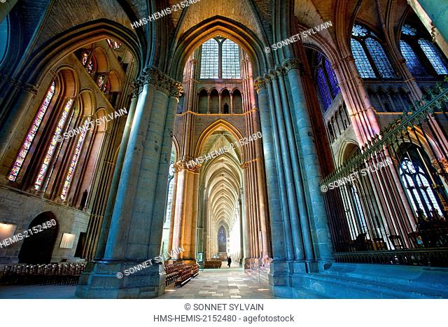France, Marne, Reims, Notre Dame Cathedral listed as World Heritage by UNESCO