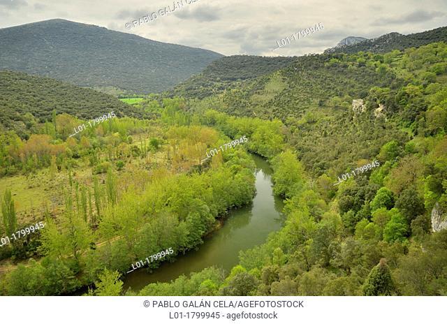 Ebro river in the gorge of los Tornos Cidad de Ebro, Burgos