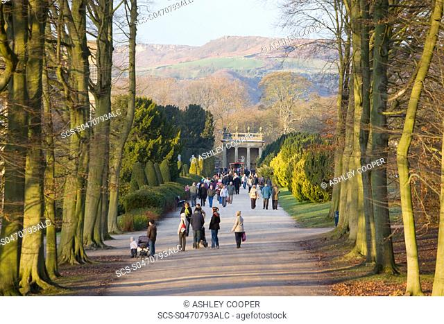 The Gardens at Chatsworth House in Derbyshire UK