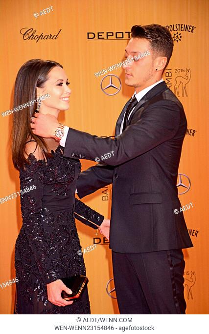 Bambi 2015 awards at Stage Musical theater Potsdamer Platz - red rarpet arrivals Featuring: Mandy Capristo, Mesut Oezil Where: Berlin