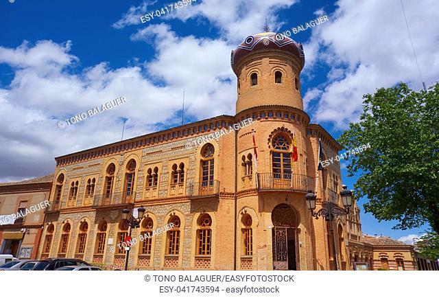 Mora village in Toledo City Hall in castile La Mancha of spain by Saint James Way