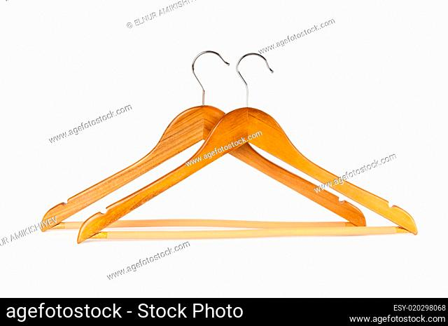 Hanger isolated on the white background