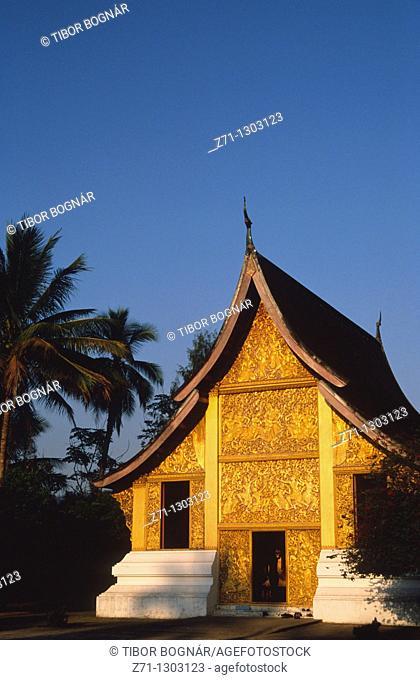 Laos, Luang Prabang, Wat Xieng Thong buddhist temple, Carriage House