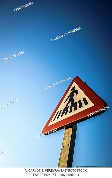 Traffic sign in a street in Sant Cugat del Valles Barcelona Spain