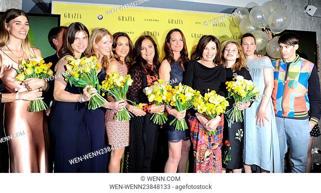 Grazia magazine Germany's Best Inspiration Award 2016 at Soho House in Mitte Featuring: Veronika Heilbrunner, Carolyn Hodler, Anna-Christin Haas