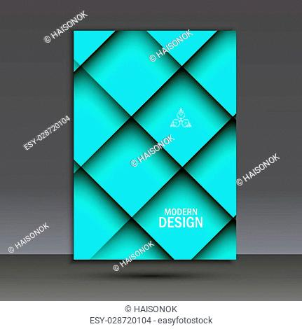 Modern vector brochure design template with abstract line