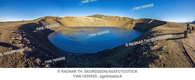 Viti, a huge explosion crater, Northern Iceland On March 29, 1875, a violent eruption in the Dyngjufjoll mountains finally marked the end of the Askja eruptions...