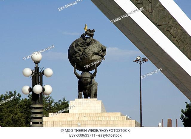 Commemorating monument to the Earthquake of 1948, Ashgabat, Turkmenistan