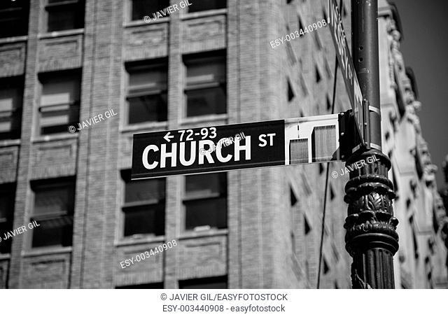 Church street, New York, USA