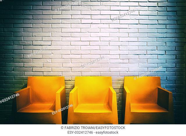 Vintage shot of a waiting room