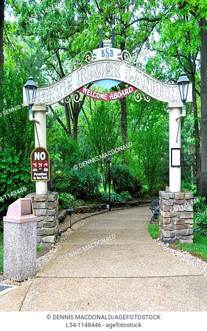Garden Area at Showboat Branson Belle White River Landing Missouri