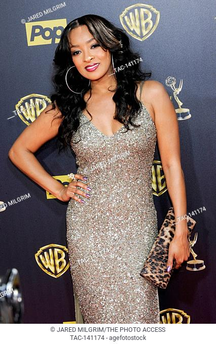Actress Jennia Fredrique attends the 42nd annual Daytime Emmy Awards at Warner Bros. Studios on April 26th, 2015 in Burbank, California