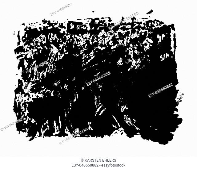 Black color Stencil with dirty grunge texture
