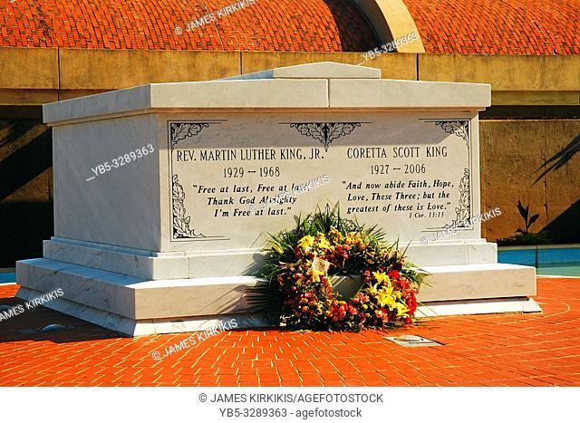 The graves of Martin and Coretta King in Atlanta Georgia