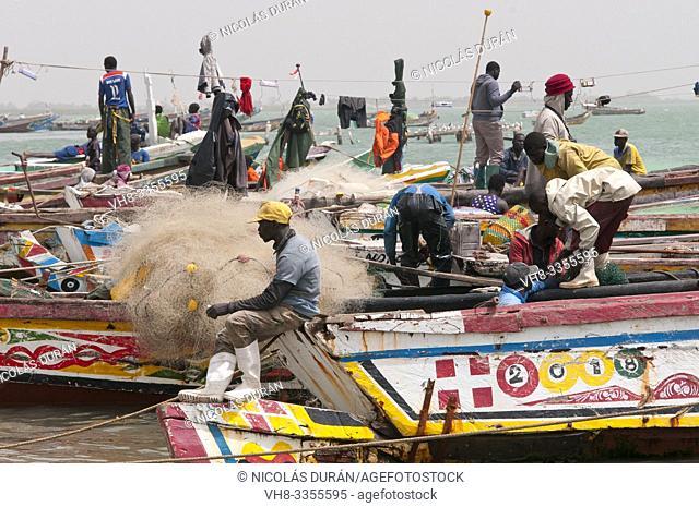 fishing boats harbor senegal