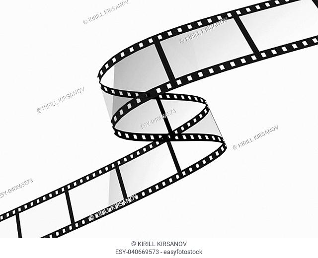 Movie filmstrip. 3d illustration isolated on white background