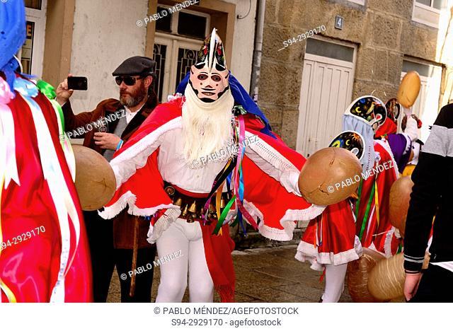 Pantallas of Xinzo, mask of the Entroido or carnival in Xinzo de Limia, Orense, Spain