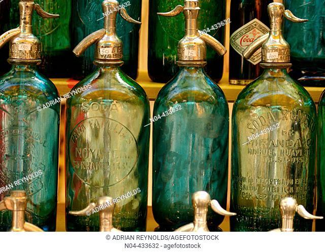 Soda bottles, San Telmo district. Buenos Aires, Argentina
