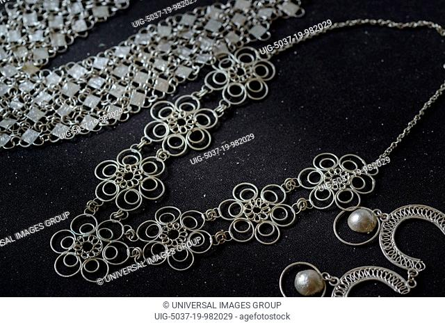 Jewelry created by Silversmith, Ibo Island, Mozambique
